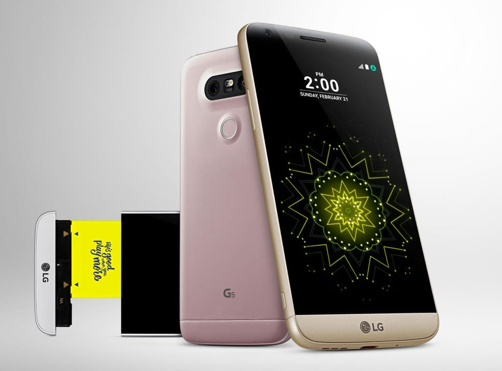 The LG G5 has a pull-out base, which can house different modules