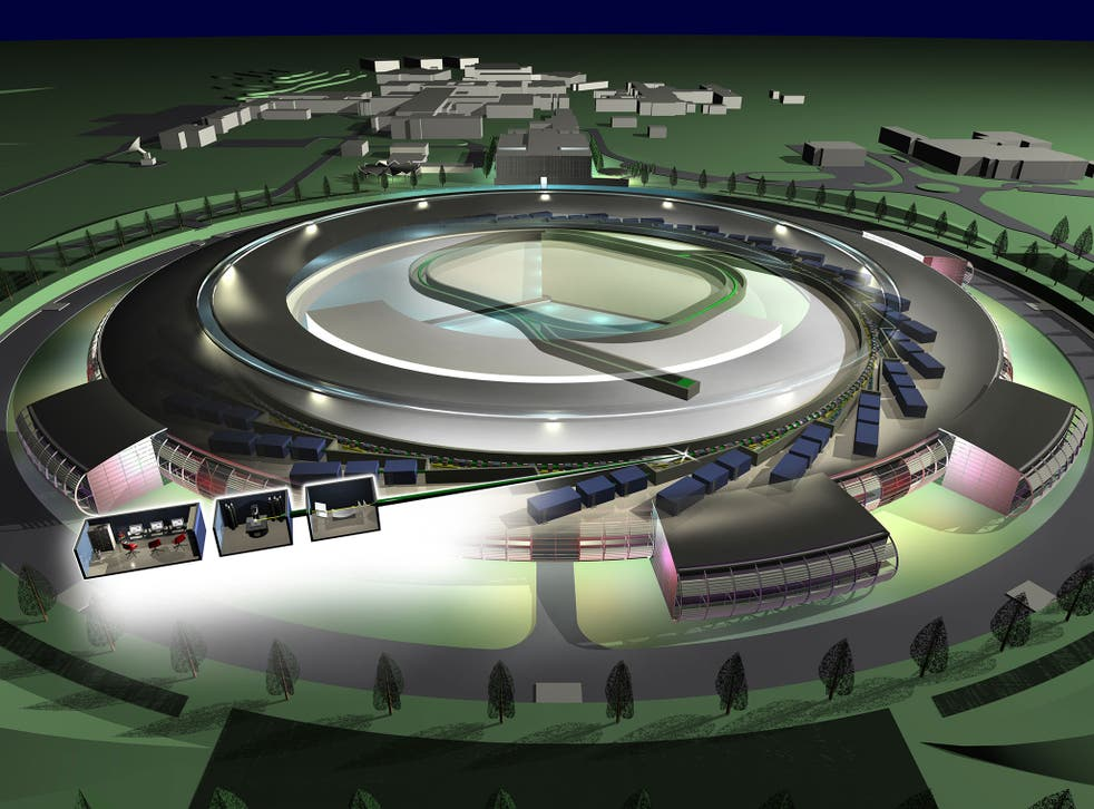 The Diamond Light Source in Oxfordshire, a high-tech research centre, produces highly focused X-ray, infrared and ultra-violet beams