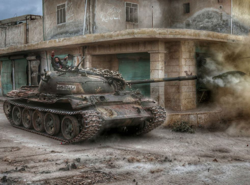 Syrian rebels attack the headquarters of Assad's regime forces in the villages of Nubul and al-Zahraa in Aleppo, Syria