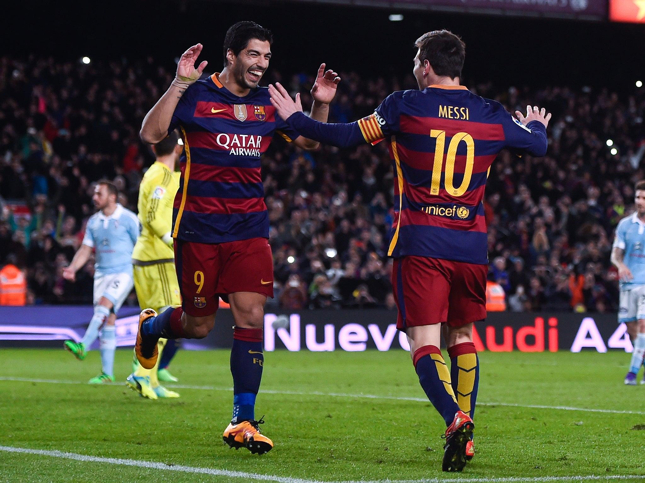 Arsenal Vs Barcelona How Super Luis Suarez Nudged Lionel Messi Aside