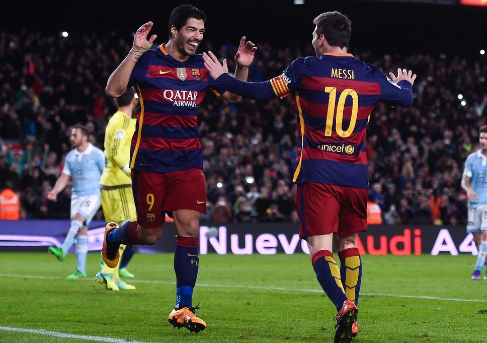 9c71ee277 Arsenal vs Barcelona: How super Luis Suarez nudged Lionel Messi aside
