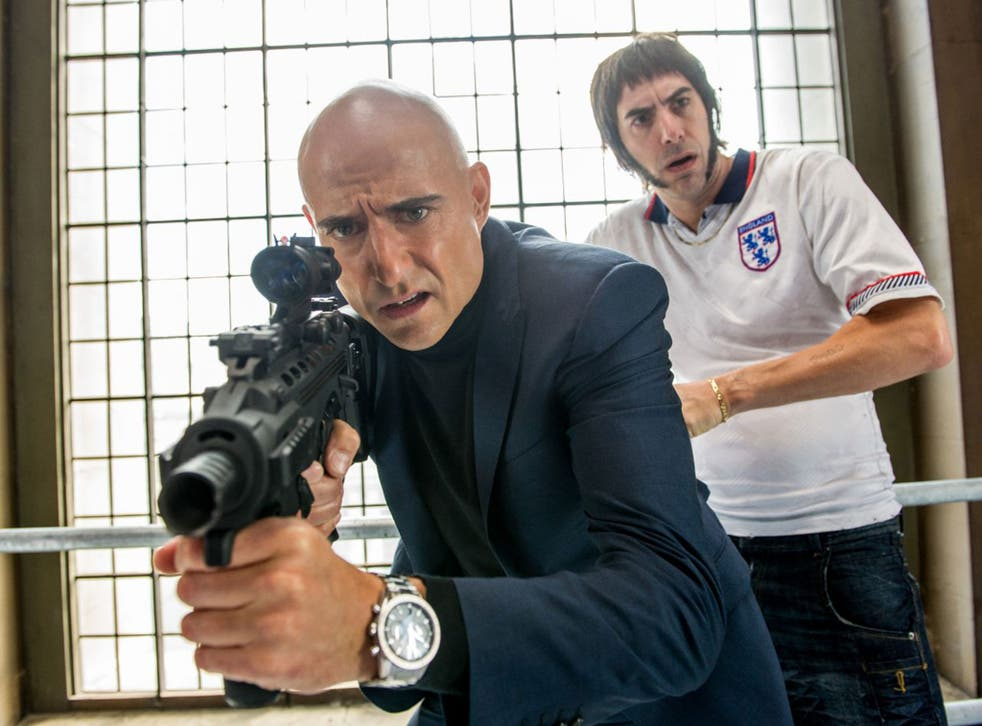 Gleeful comic set-pieces enable 'Grimsby', starring Mark Strong, left, and Sacha Baron Cohen, to transcend its preposterous plotting