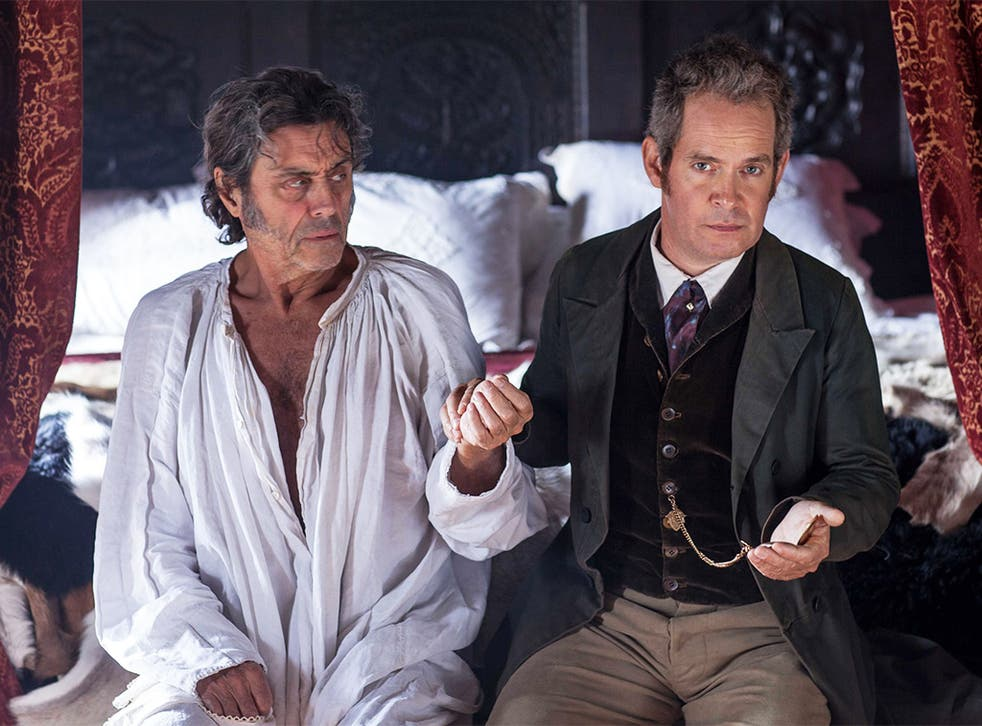 Pillows of the community: Ian McShane and Tom Hollander in 'Doctor Thorne'