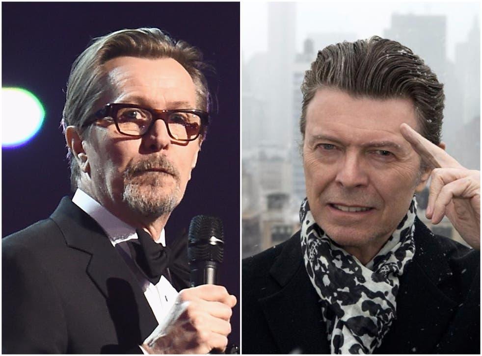 Gary Oldman paid tribute towards his friend David Bowie