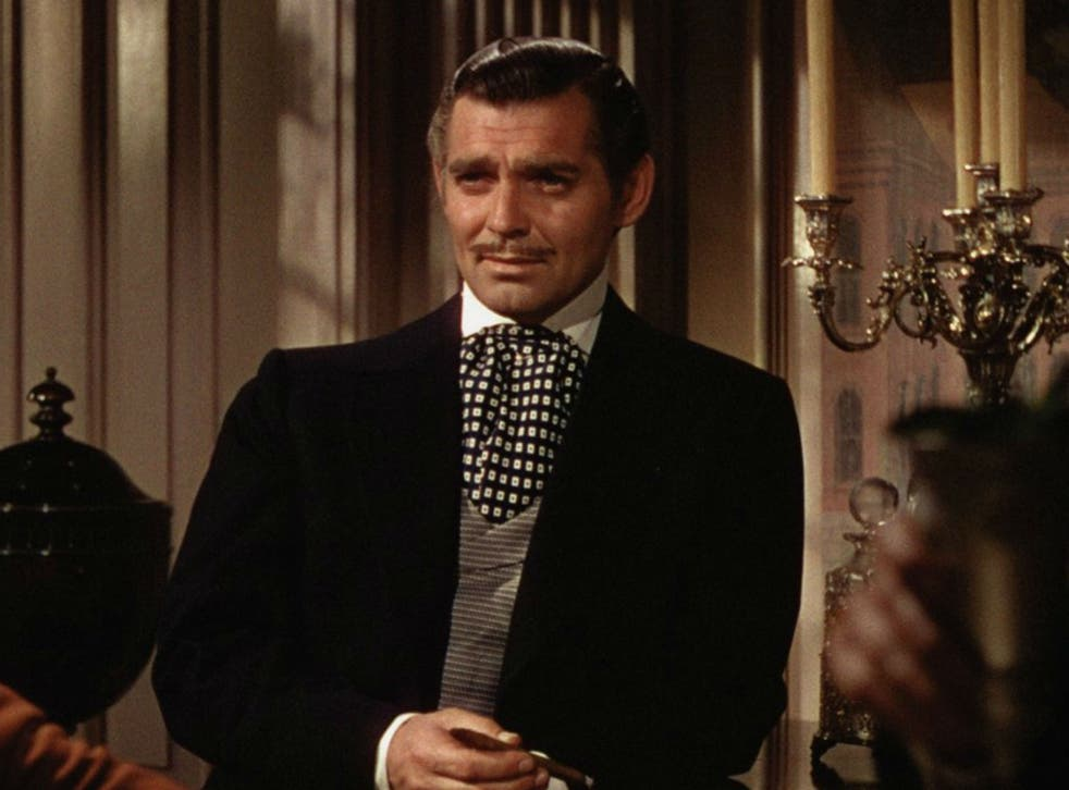Clark Gable as Rhett Butler in the 1939 film adaptation of Gone with the Wind