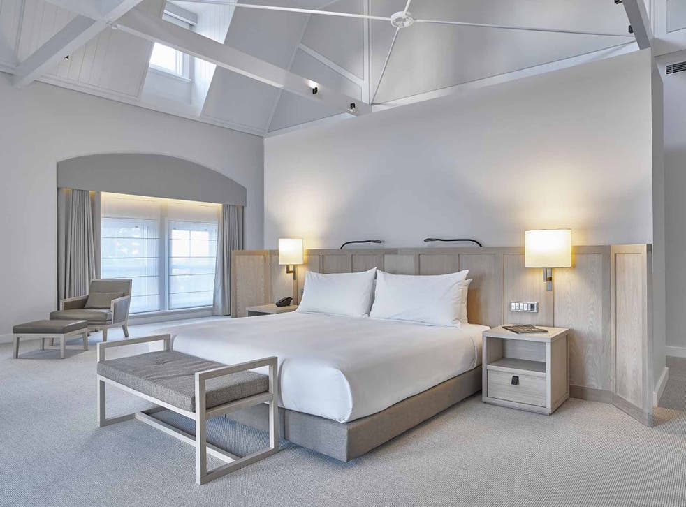 Whiter shade of pale: the bedrooms are neutrally decorated