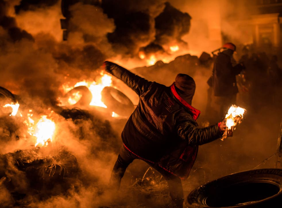 The Ukrainian capital Kiev is rife with theft, vandalism, and violent protests