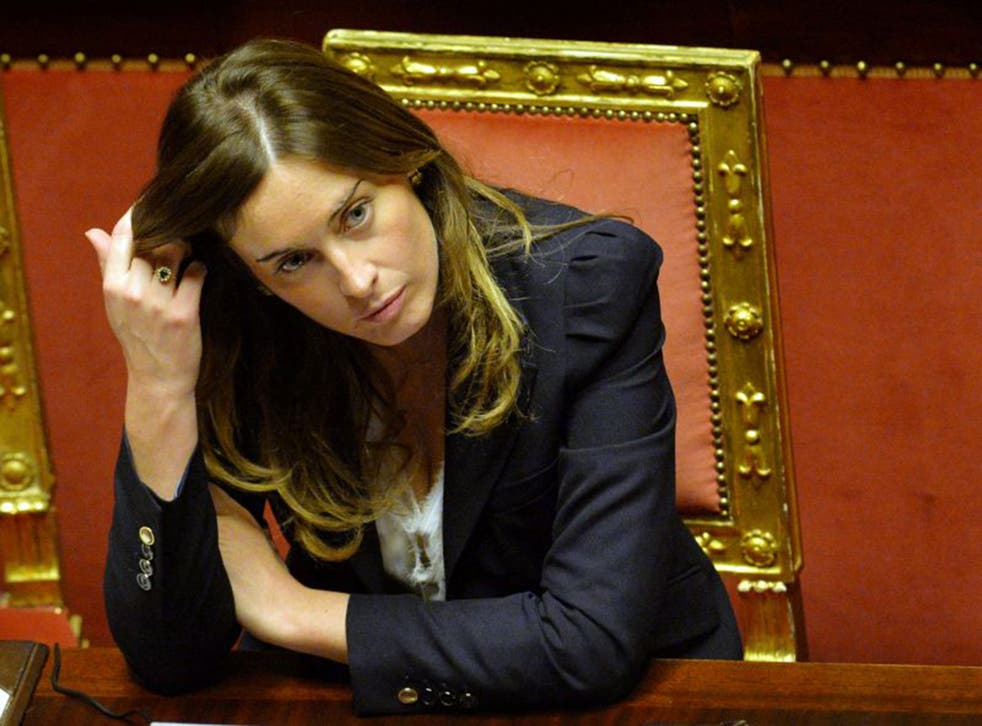 Maria Elena Boschi, the Italian Minister for Constitutional Reforms