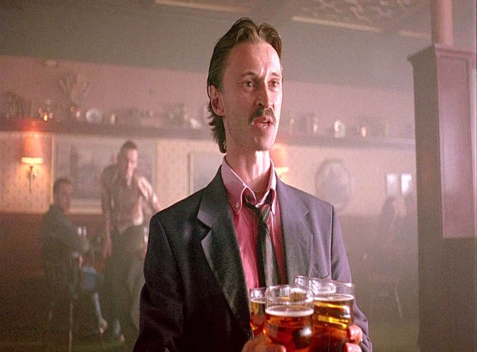 Robert Carlyle as Begbie in 199s film 'Trainspotting'