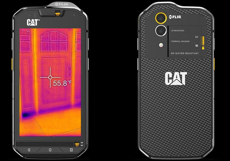 The Cat S60 is the world's first smartphone with a built-in thermal