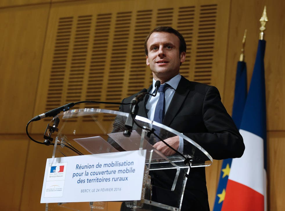 France's economy minister Emmanuel Macron