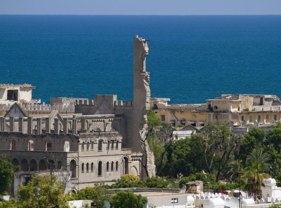 'Villa Somalia', the presidential palace in Mogadishu, is located across from the Somali Youth League hotel