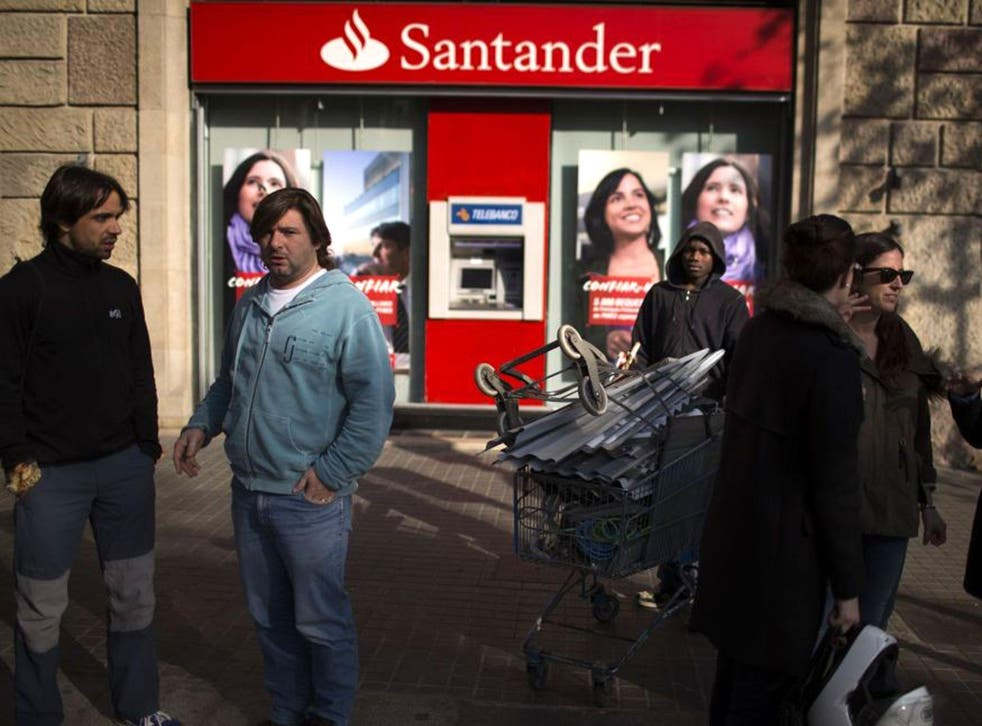A Santander branch in Barcelona. More than half-a-million savers will be affected by the rate cut