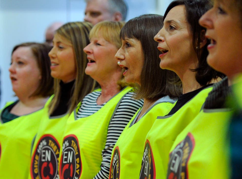 English National Opera choristers involved in a dispute over pay and jobs, as they have voted to go on strike.