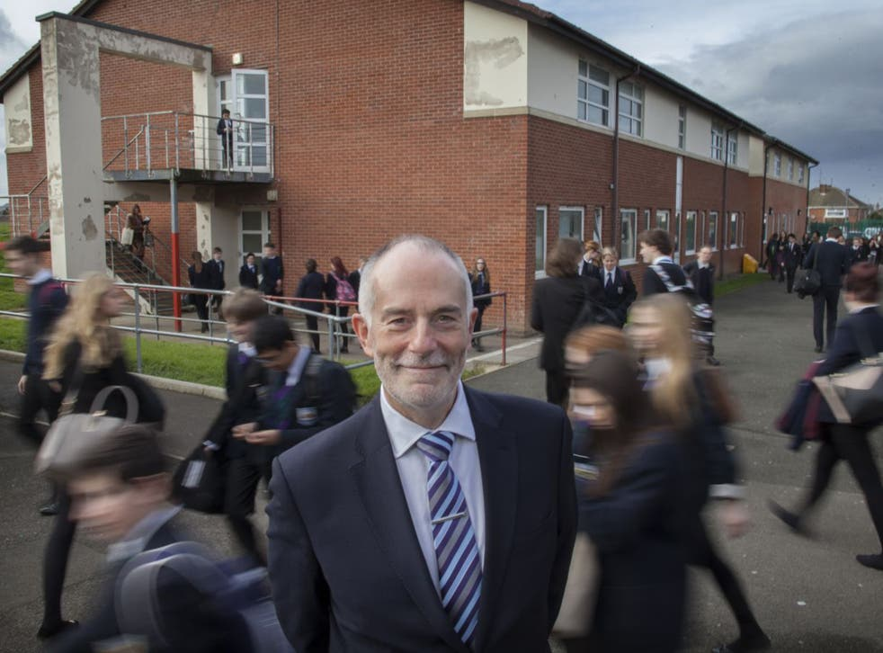 Allan Foulds, of the ASCL, in his school playground in Cheltenham