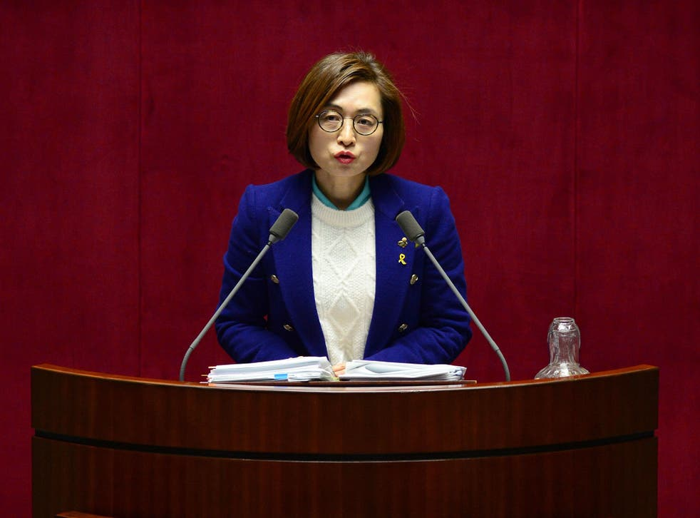 Eun Soo-mi speaking for more than 10 hours in the filibuster