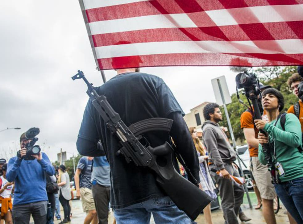 Texan gun-right activists claim all students and staff will be safer when everyone is entitled to carry a weapon