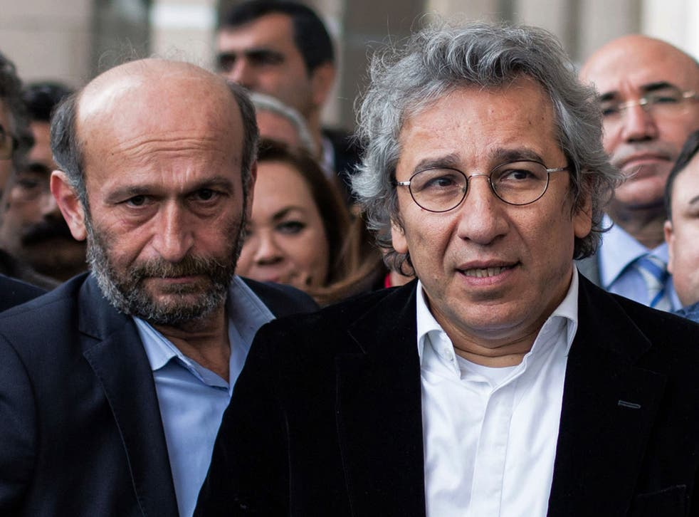 A court ruled Can Dundar, right, and Erdem Gul and been unfairly jailed