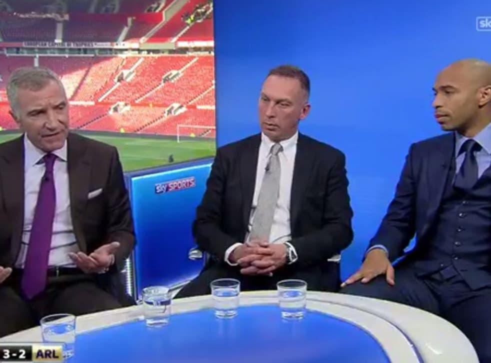 Graeme Souness (left) during punditry duty on Sky Sports alongside David Platt and Thierry Henry