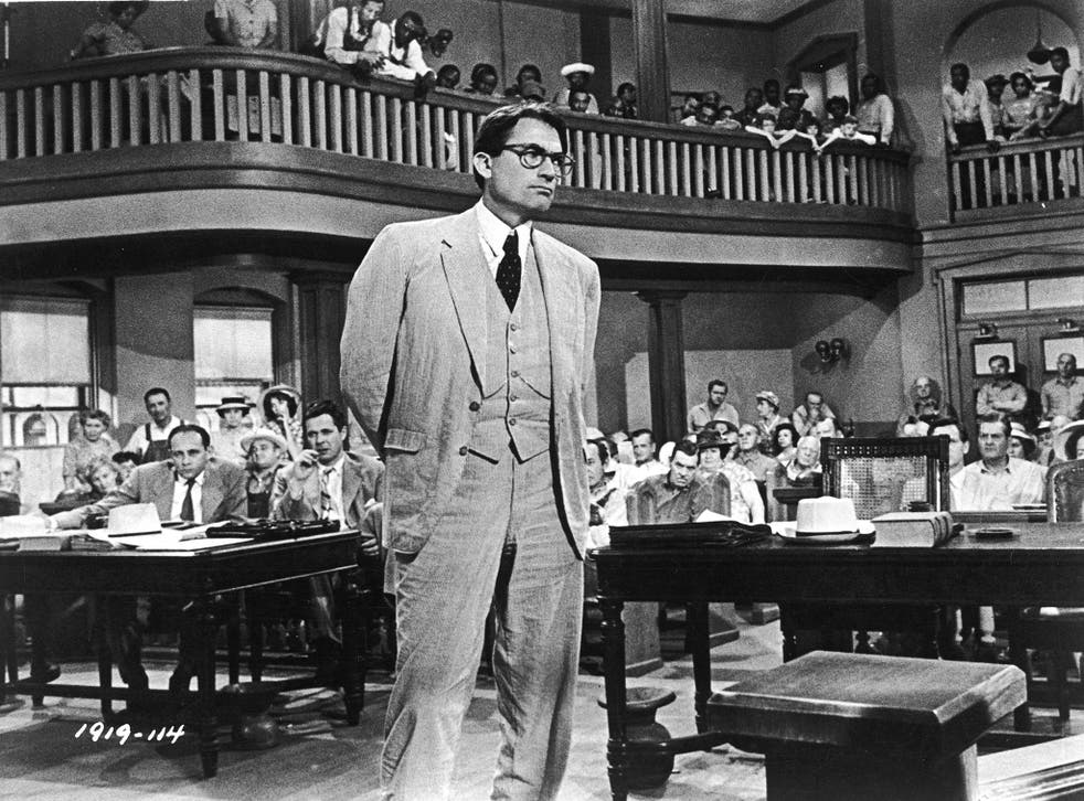 Gregory Peck as Atticus Finch in the 1962 film adaptation of Harper Lee's 'To Kill a Mockingbird'