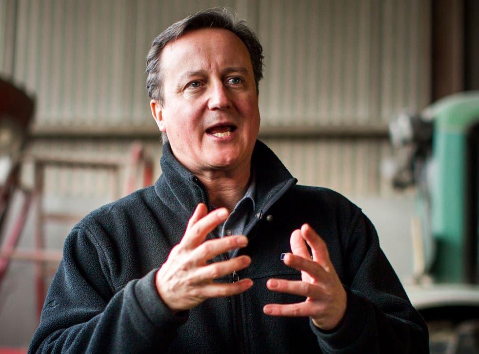 David Cameron in Ahoghill, Co Antrim