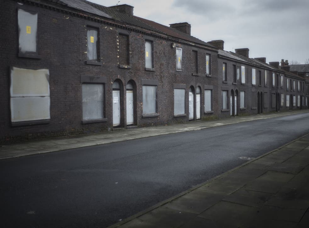Derelict homes wait for their fate in Toxteth, Liverpool