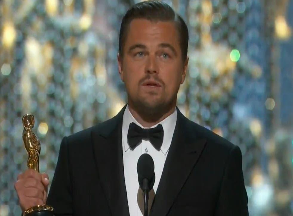 Leonardo DiCaprio wins his first Oscar for 'The Revenant'