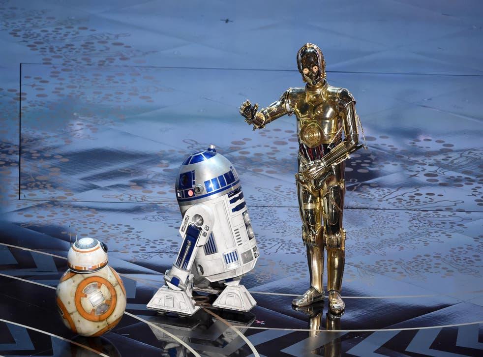 The Star Wars droids crash The Oscars