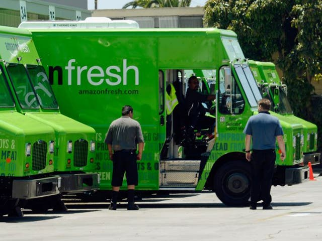 The Amazon Fresh service in the US is available only in select locations. It has an annual fee of $200 (£144) for deliveries