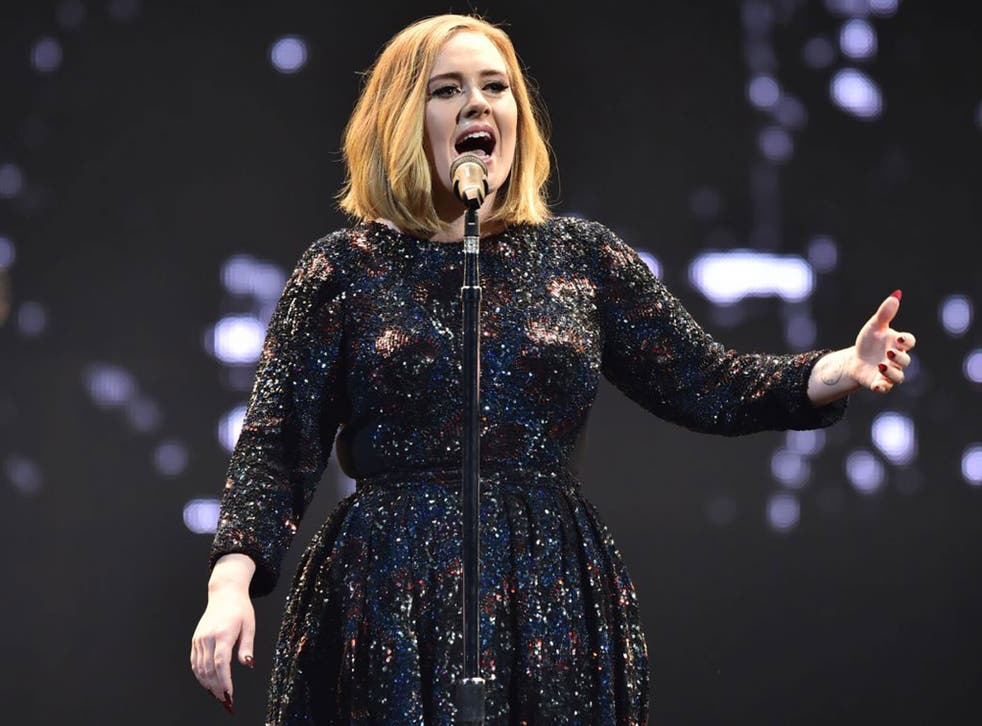 Safety in numbers: Adele performs in Belfast on the first date of her UK tour