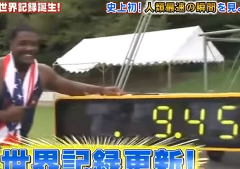 Justin Gatlin breaks Usain Bolt 100m world record by 0.13 seconds... but it won't count