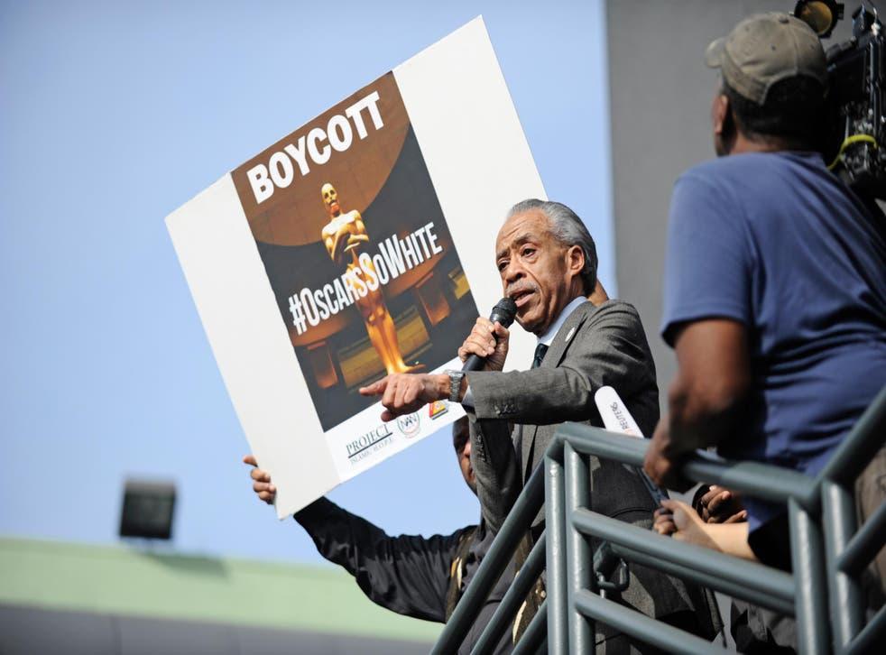 Al Sharpton calling on people to boycott the Oscars in LA