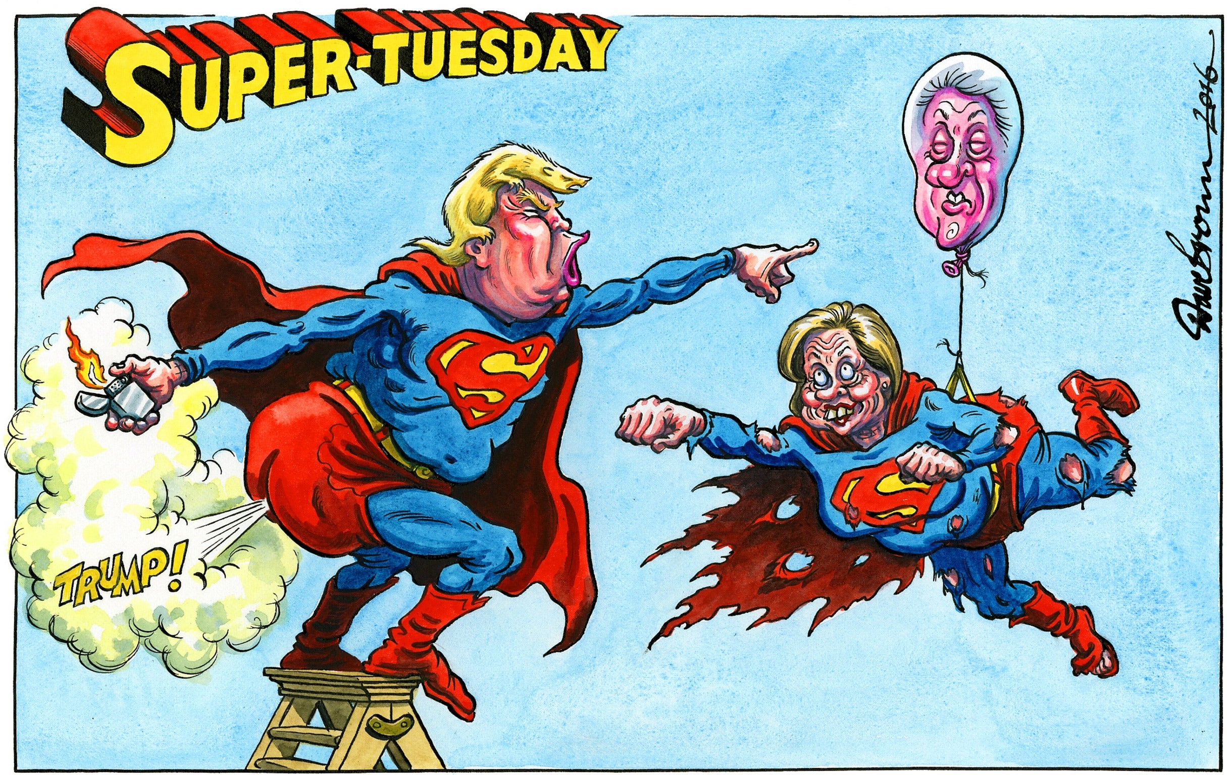 Super Tuesday special: Donald Trump's first 100 minutes in ...