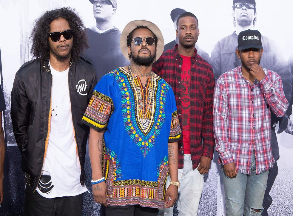 "The TDE crew attends the ""Straight Outta Compton"" premiere."