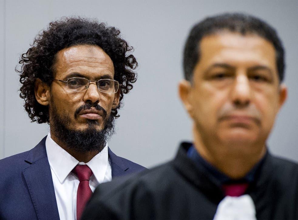 Ahmad al-Faqi al-Mahdi at a previous ICC hearing in The Hague. He is the first jihadist to appear before the tribunal