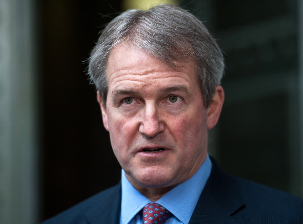 Owen Paterson was Environment Secretary between 2010 and 2014