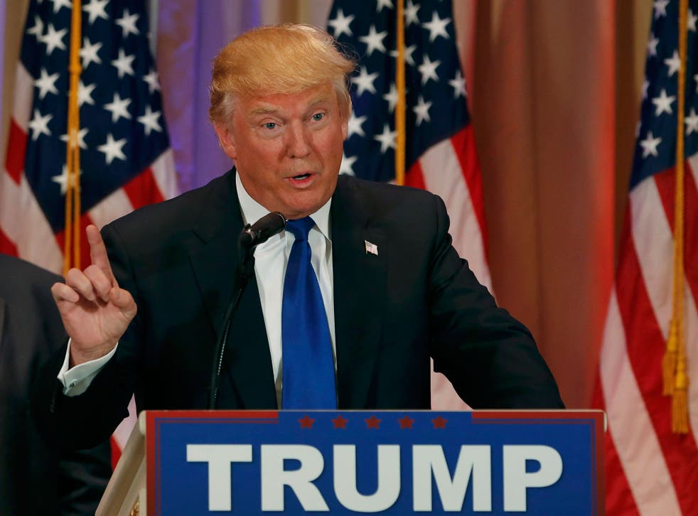 Donald Trump addresses his supporters following the Super Tuesday primaries