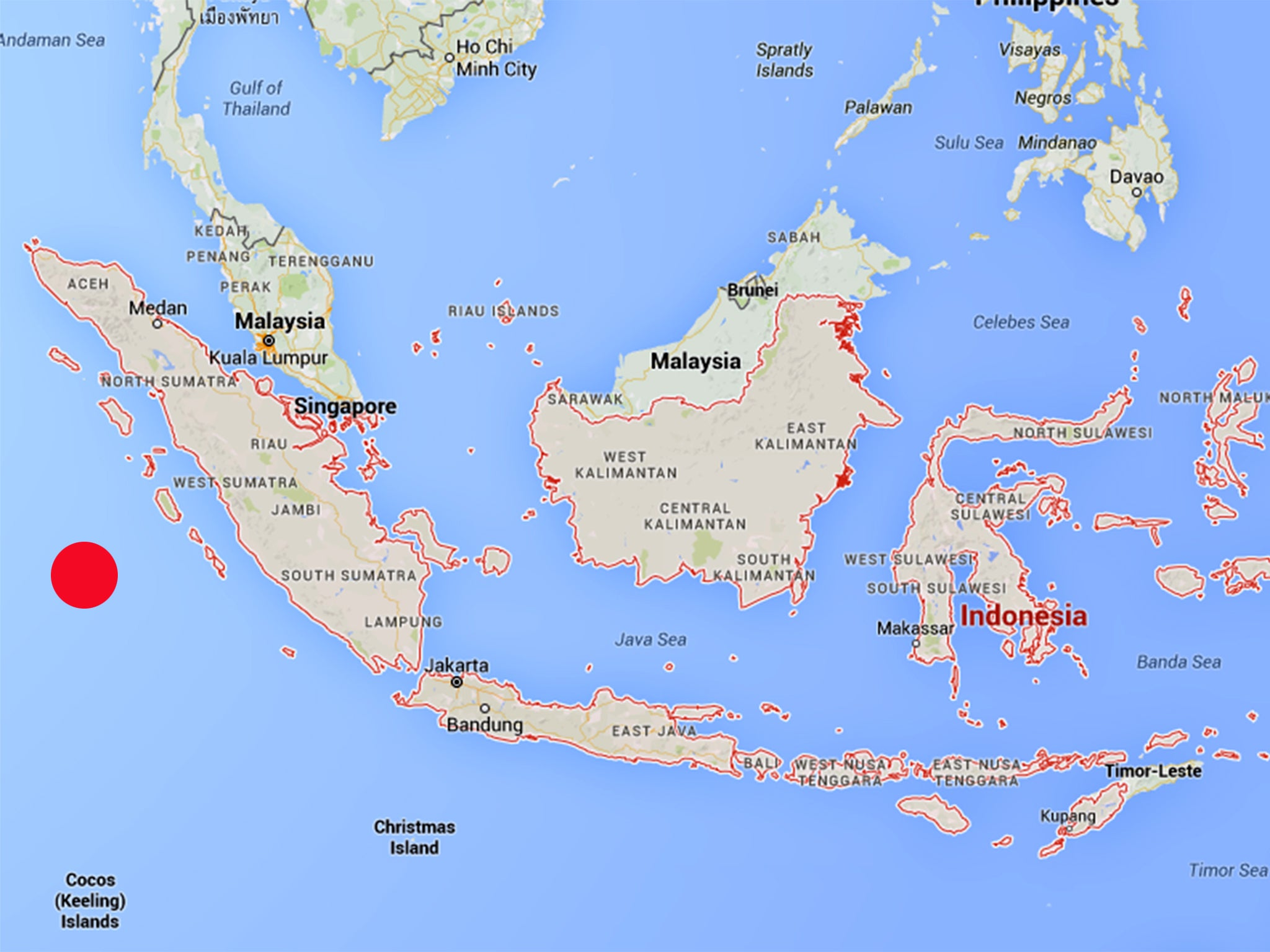 Indonesia earthquake where is sumatra and where have tsunami indonesia earthquake where is sumatra and where have tsunami warnings been issued the independent gumiabroncs Gallery