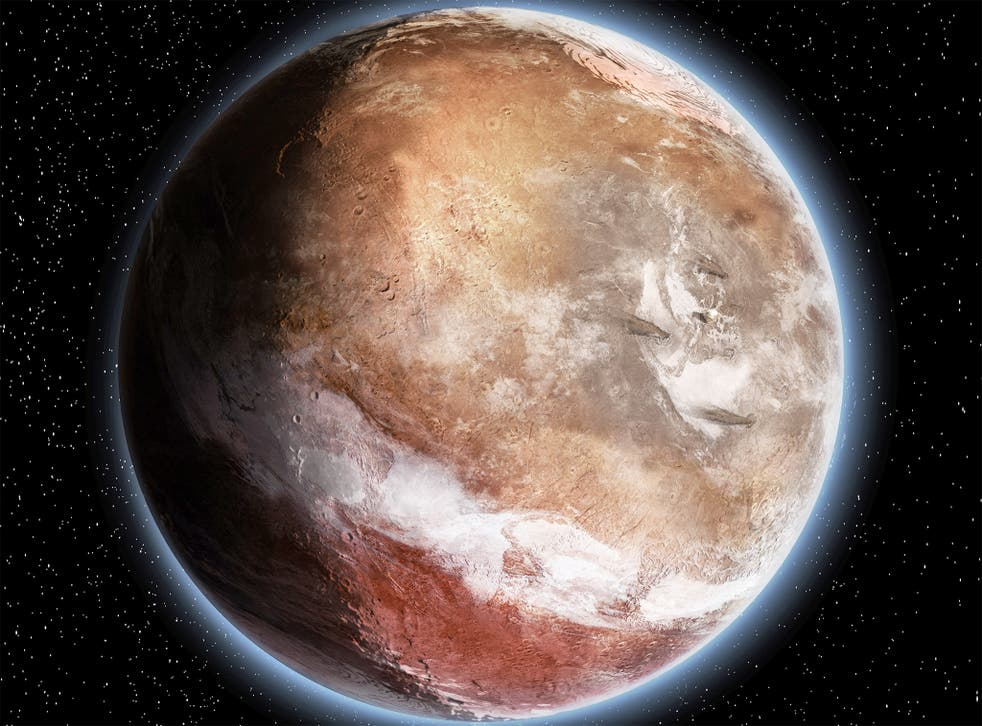 How Mars would have looked three billion years ago, according to a new study