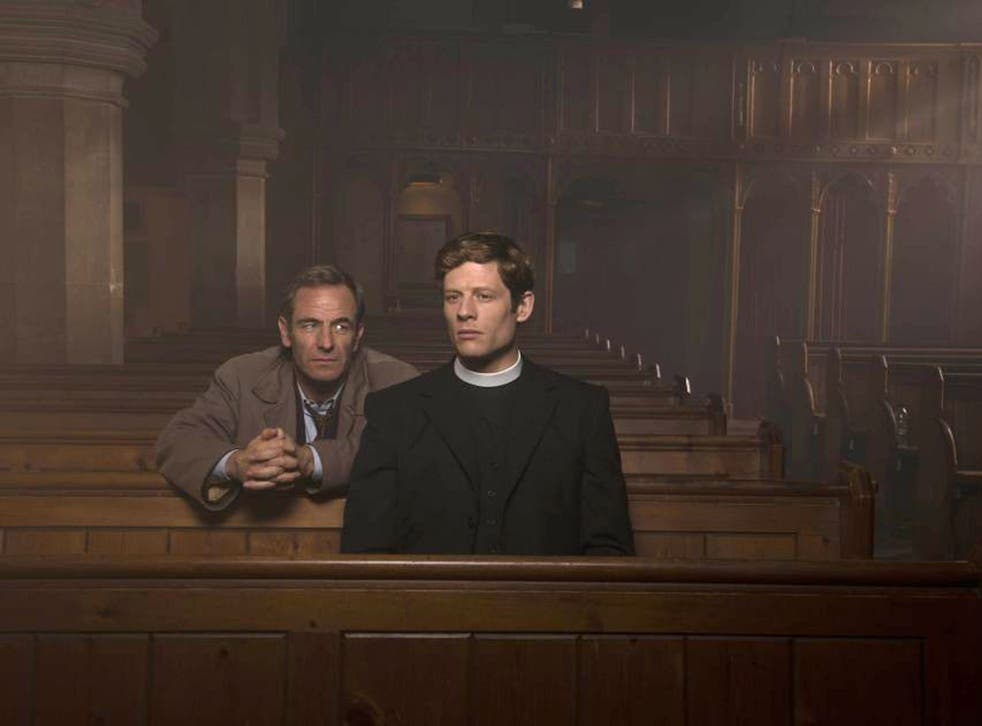 Priestly: James Norton (right) with Robson Green in the hit show
