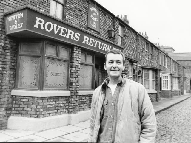 Warren on set in 1985: his soap's name was originally intended to be 'Florizel Street'