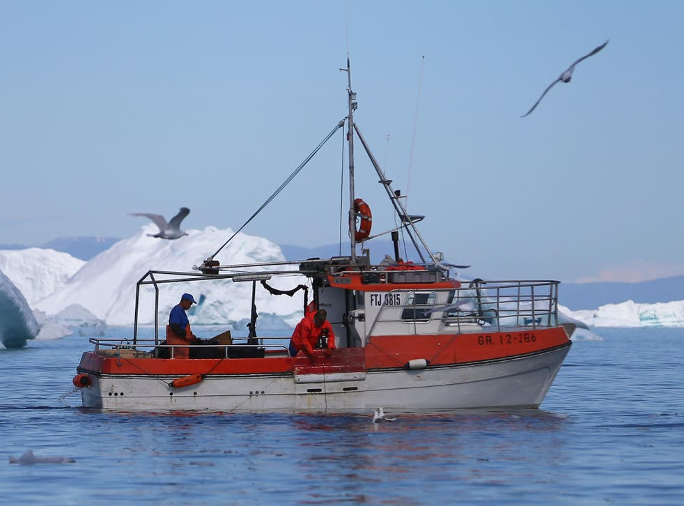 A fishing boat in the Arctic, where temperatures climbed to 1.2C this week