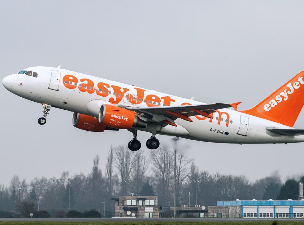 An EasyJet aircraft takes off