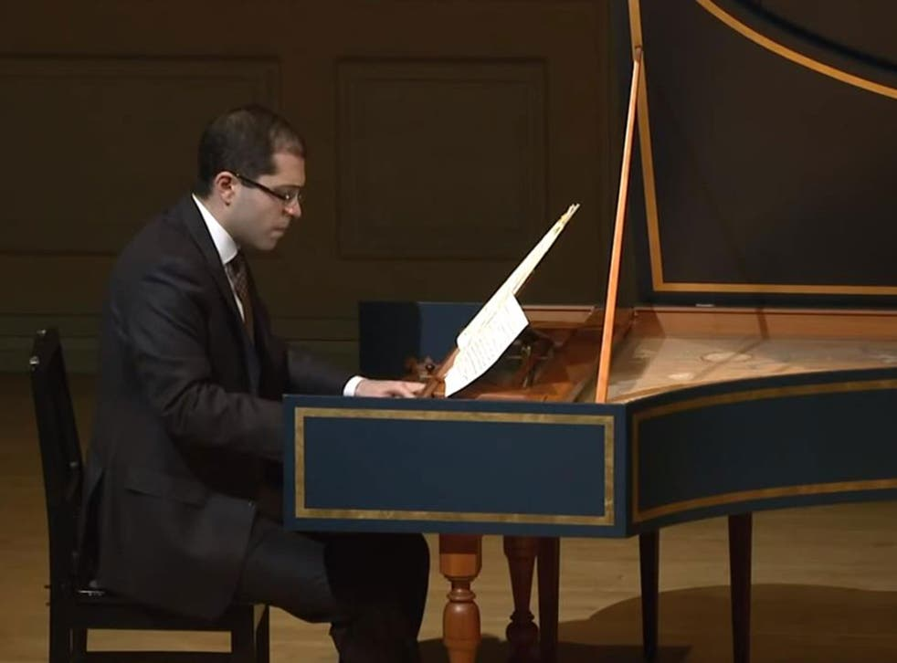 Mahan Esfahani was forced to pause his concert