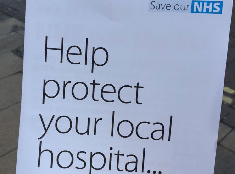 The Vote Leave leaflet with the appropriated NHS logo