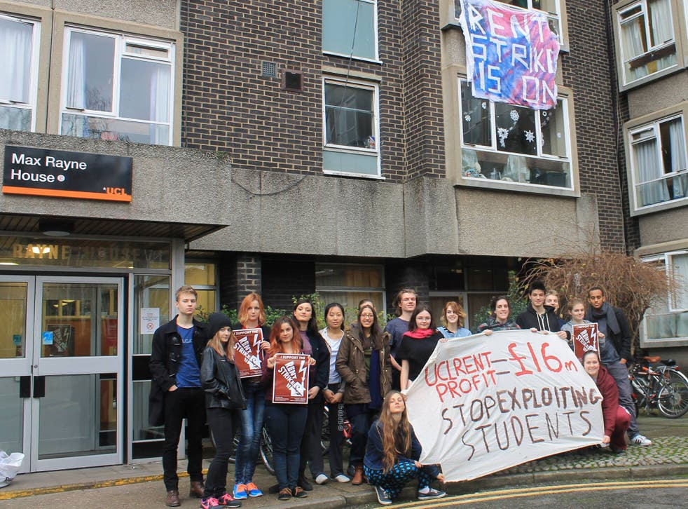 UCL Halls of Residence rent protest