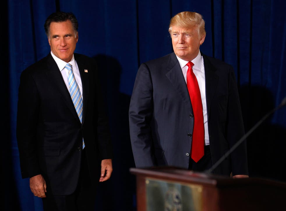 Mitt Romney and Donald Trump worked together four years ago, when the then Republican presidential candidate received public backing from the New York property magnate