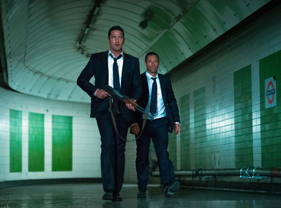 Gerard Butler and Aaron Eckhart going underground in the silly action movie 'London Has Fallen'