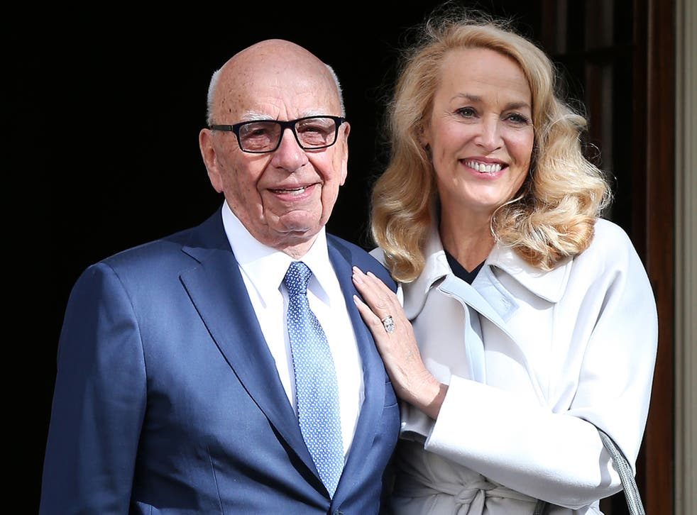 Rupert Murdoch and Jerry Hall leave Spencer House in London