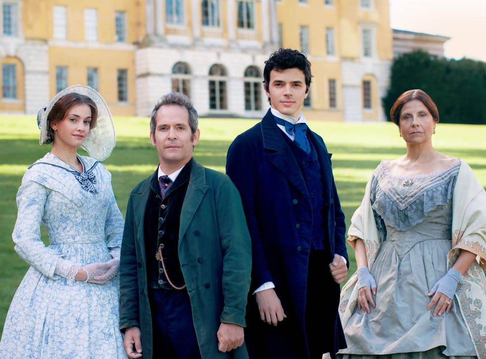 Tom Hollander (centre left) and his co-stars Rebecca Front (right), Harry Richardson (centre right) and Stefanie Martini will be hoping Julian Fellowes' latest project 'Doctor Thorne' recaptures some of that 'Downton' magic